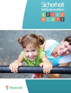 Bild mit dem Deckblatt des Ratgebers zur Sicherheit von Kindern auf Spielplätzen